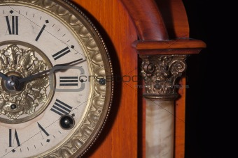 antique clock close up