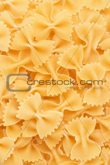 Bow tie pasta forming a background