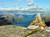 Atop of a Norway mountain