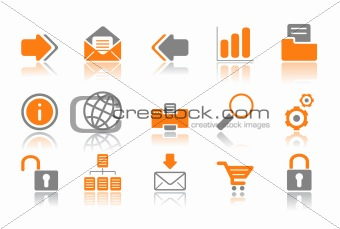 Web and Internet icons - orange series