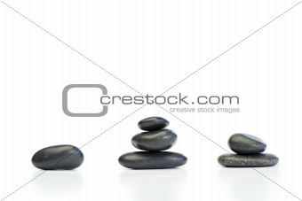 Kinds of piled up pebbles