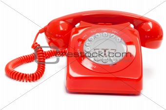 Old- fashioned red telephone