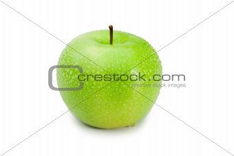 Green wet apple