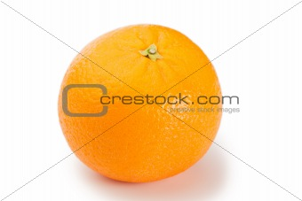 Top view of an orange
