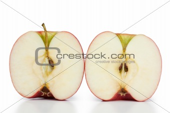 Angled halved apple