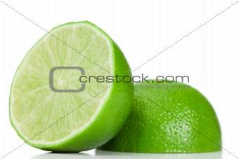 Green halved lemon