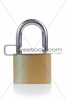 Close golden Padlock