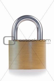 Close golden padlock