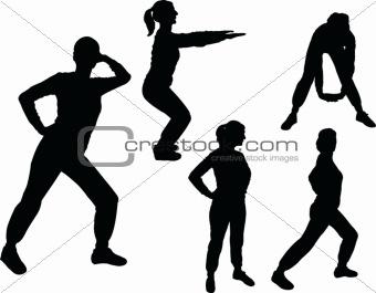 Aerobics girl - vector