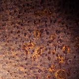 Corrosion process on surface of old iron