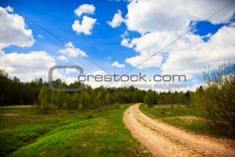 Country road turn