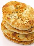 stack of indian naan bread