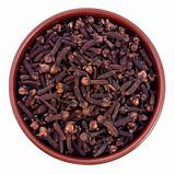 Cloves seeds in a ceramic bowl