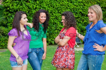 Group of Teenage Girls at Park