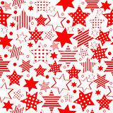 Seamless pattern with stylized stars