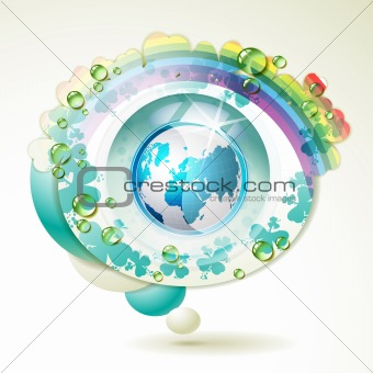 Abstract background with blue Earth