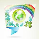 Abstract background with green Earth