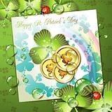 St. Patrick's Day card design
