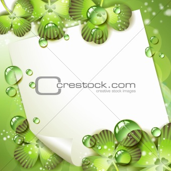 Sheet of paper and clover