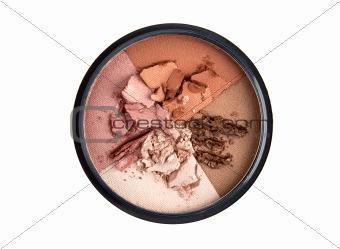 Four color round blush palette
