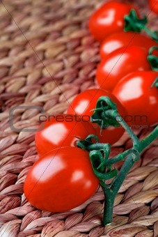 tomatoes bunch closeup