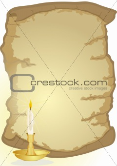Old parchment and candle