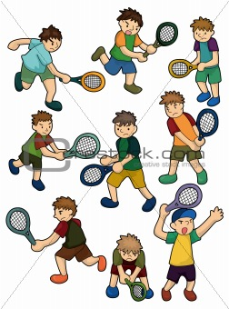 cartoon Tennis Players icon