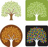 Stylized Tree Vector Illustration