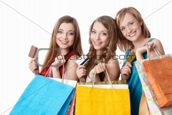 Girls with credit cards
