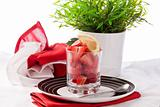 Strawberries with lemon