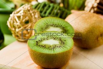 Kiwi Dessert on cutting board