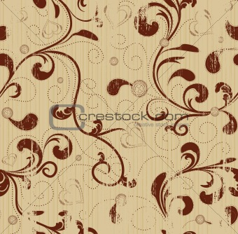 Grunge floral seamless background
