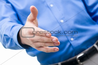 Extending the hand