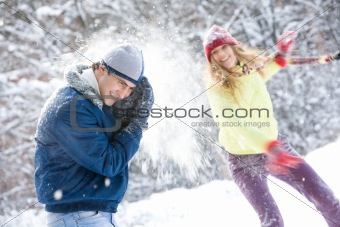 Playing snowballs