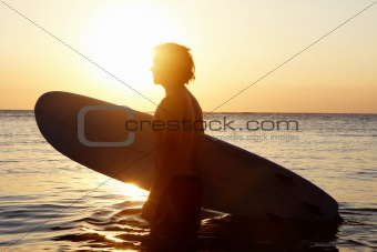 Surfer in water