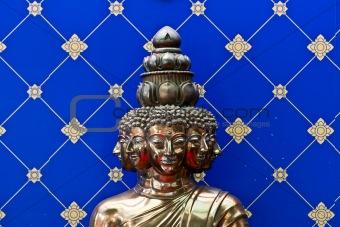 Bronze Buddha's head