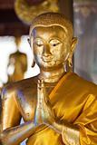 Buddhist gold statue