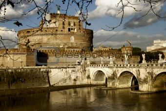 Castel Sant'Angelo and Bridge,Rome,Italy
