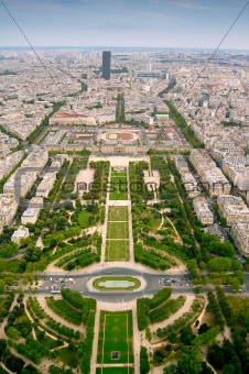 Champ-de-Mars view from Eifell tower