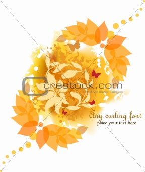 Autumn Flower Background