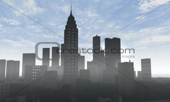 Skyline 3D render