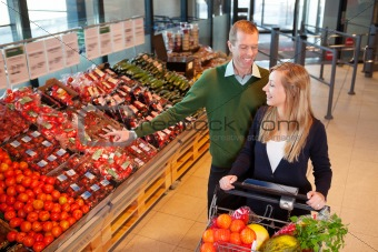 Couple Buying Fruits and Vegetables