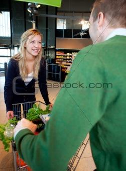 Playful Supermarket Couple