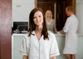 Spa Therapist in Uniform