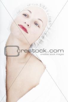 Portrait of relaxing woman