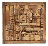 letterpress printing blocks abstract