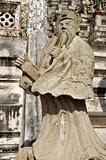 Statue of a man in Wat Arun