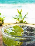 Refreshing lemon Soda With Ice