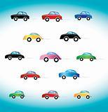 retro car toy illustration