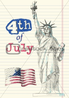 Fourth of July Doodles